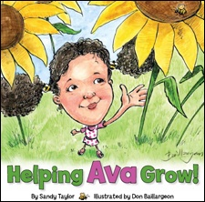 HELPING AVA GROW! is a caring book about a sweet 4-year old girl. It chronicles how she and her family learn to adjust to life, including introducing the injections, eating healthy before treatments, and staying connected during this trying time. The book is intended to create a dialog with children, communicating together about this medical life change, and the impact it has on the whole family – even siblings. Explaining the process in a caring and loving way was really important to mother and author, Sandy Taylor, whose daughter, Ava inspired this book.  The book was created because Ava's parents discovered there was very little material appropriate for children that explained the process of treatment. As a graphic designer, Sandy felt it was necessary to create this book. Through the process of creating the book, it became a coping tool for this mother as well. She hopes families can use HELPING AVA GROW! to cope with their diagnosis of IGF-1 Deficiency and also Growth Hormone Deficiency.